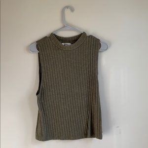 Cropped sweater tank